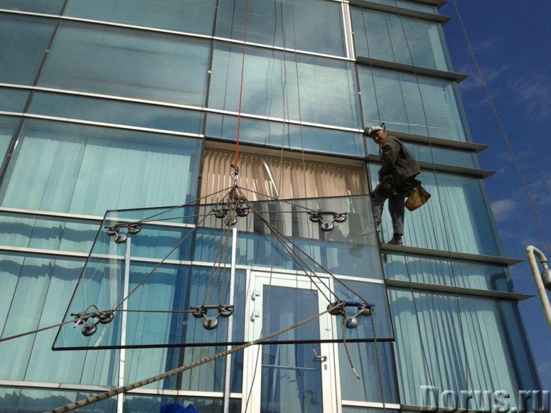 Остекление фасадов, витражей, витрин. Монтаж светопрозрачных конструкций - Строительные услуги - Осу..., фото 1